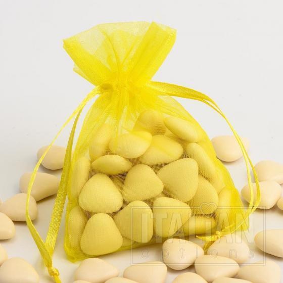 Organza Pouch 3x4 Inch Plain - Lemon