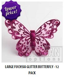 Large glitter butterflies