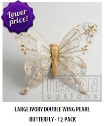 Large double wing pearl butterflies