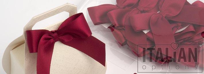 Pre-tied satin bows