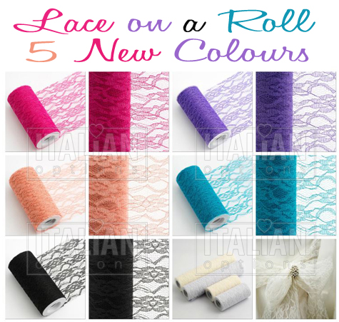 Lace on a roll