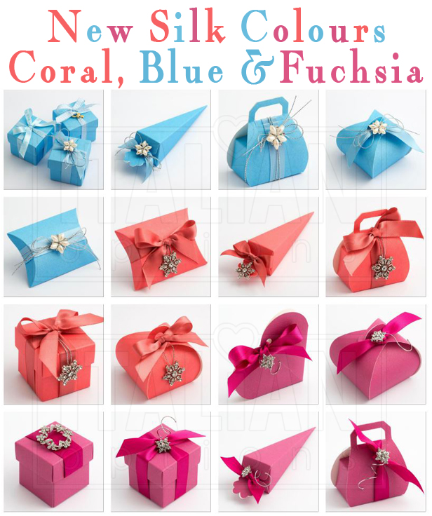 NEW Silk -Coral, Blue, Fuchsia