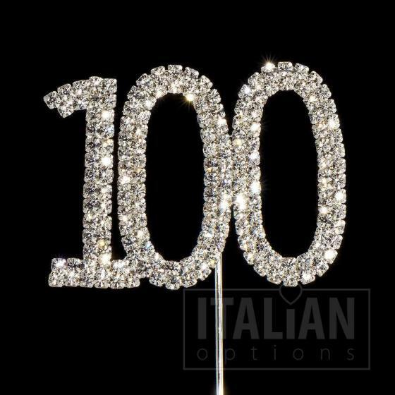 100 cake topper