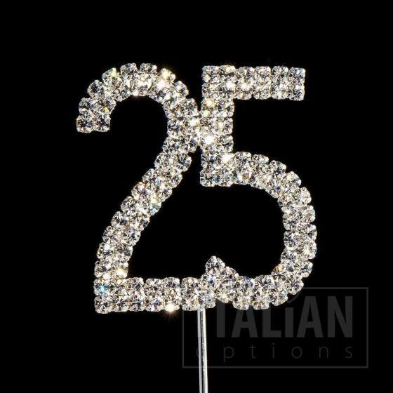 25 cake topper