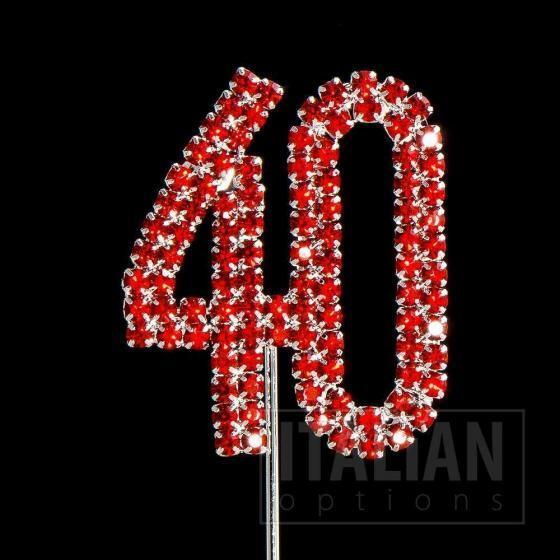 40 cake topper
