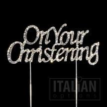 On your Christening cake topper