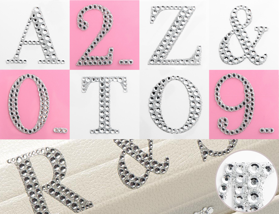 5cm Diamante Glitter Letters & Numbers