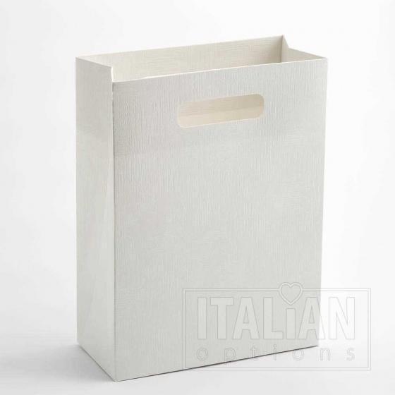 White linen gift bag