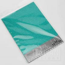 Turquoise glitter card
