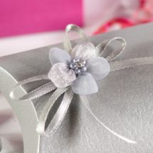 Diamante Flower Ribbon Bows