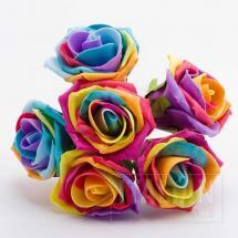 Rainbow foam roses