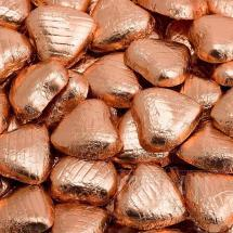 Copper foiled chocolate heart