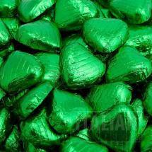 Emeralf foiled chocolate hearts