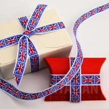 Union Jack Ribbon 16mm x 10M Grosgrain