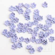 Glitter Paper Flowers Mini - Lilac (60 Pack)