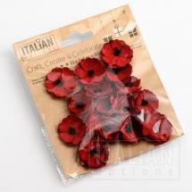 Paper Poppy Flowers Red (16 Pack)