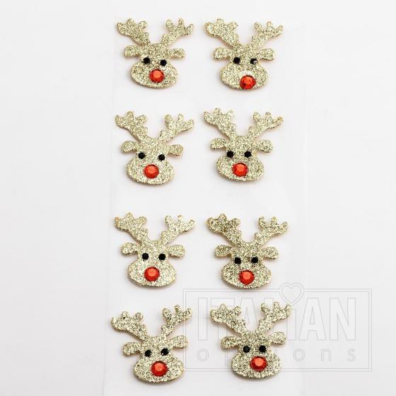 Glitter Mini Reindeer Face (8 Pack)