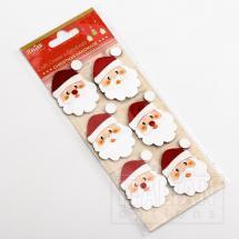 Glitter Santa's Face (6 Pack)