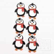 Glitter Penguins (6 Pack)