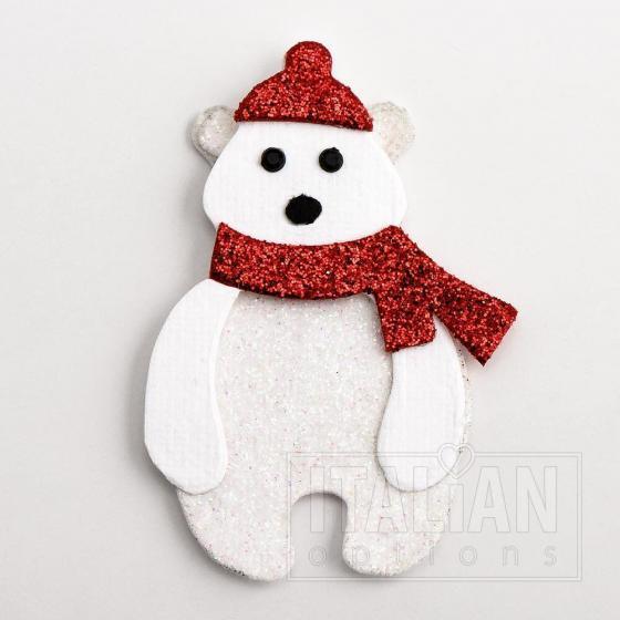 Glitter Polar Bear's (6 Pack)