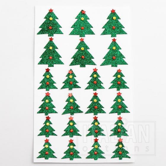 Glitter Christmas Tree's (22 Pack)