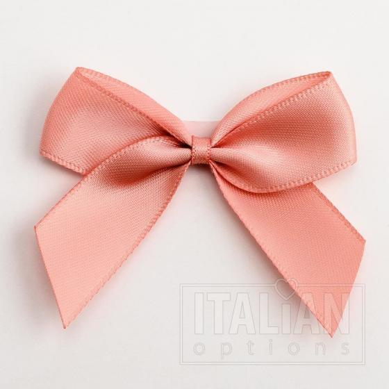 5cm Satin Bows (Self Adhesive) - 12 Pack - Rose Gold