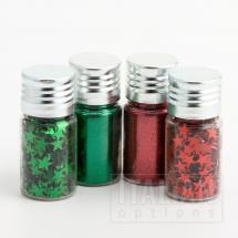Glitzy Sparkles Red/Green - 4x10g Jars