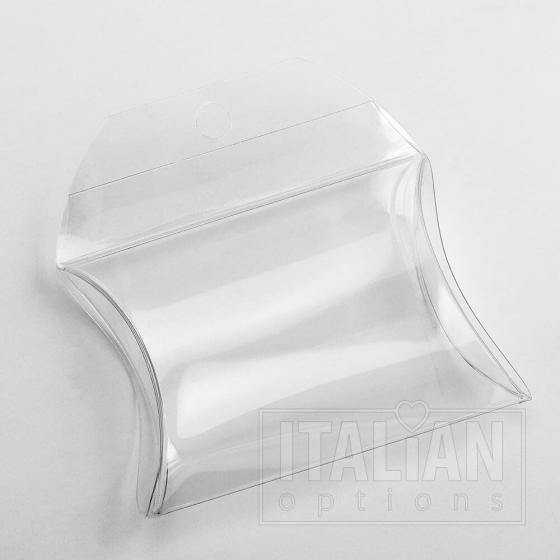 Transparent Borsetta - 55x55x17mm (with hole for slatwall)