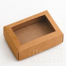 Rustic Kraft Rectangular Box & Window Lid