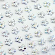 6mm - Flowers on Sheet - (100 pcs) - Iridescent