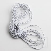 Bakers Twine 2mm x 50M - Metallic Silver / White