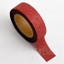 Adhesive Washi Tape - Glitter - Red 15mm x 10M