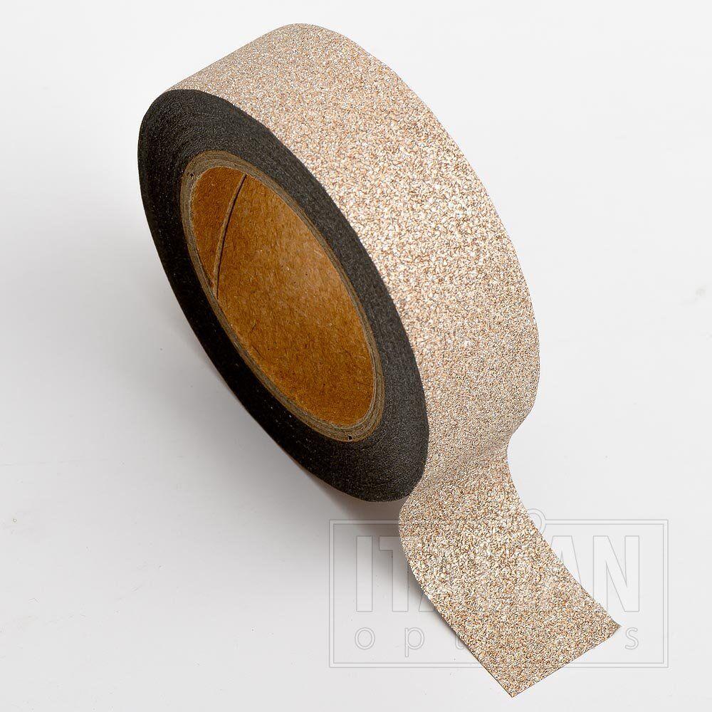 Gold Metallic Hearts 15mm 1 x 10m Roll Adhesive Craft Washi Tape