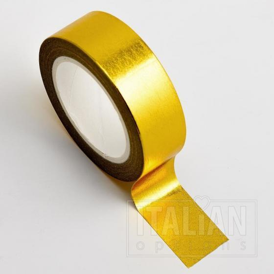 Adhesive Washi Tape - Foil - Gold 15mm x 10M