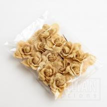 Hessian Rose - Natural (12 Pack)
