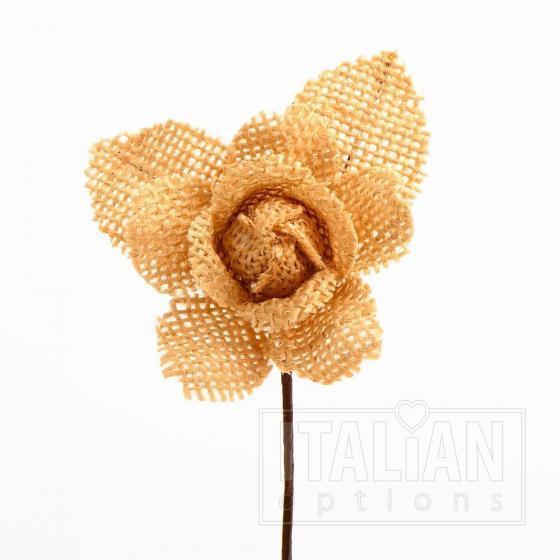 Hessian Rose - Dark Natural (12 Pack)