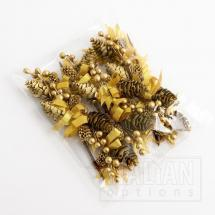 Cones & Berries Spray - Gold (12 Pack)