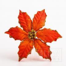 11cm Large Poinsettia - Orange (6 Pack)