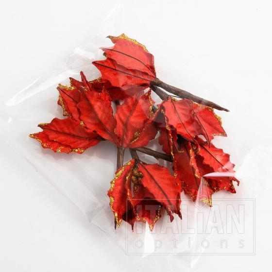 11cm Large Poinsettia - Red (6 Pack)