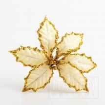 11cm Large Poinsettia - Ivory (6 Pack)