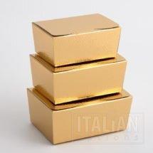 Gold Pelle Ballotin boxes
