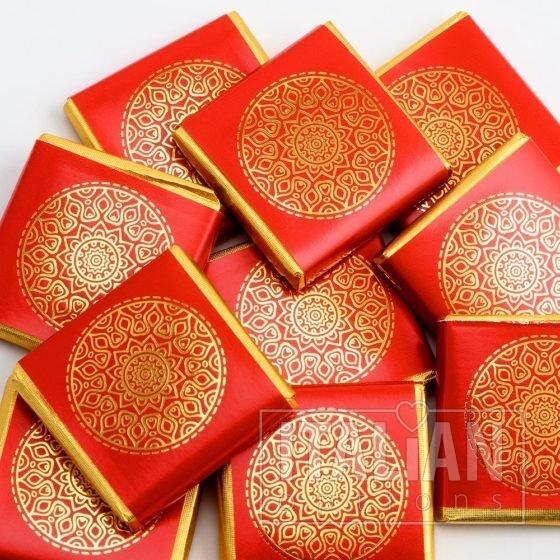 Mandala Neapolitans - Red/Gold