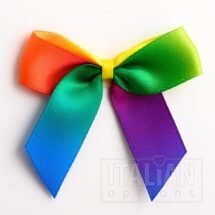 5cm Satin Bows (Self Adhesive) - 12 pcs - Rainbow