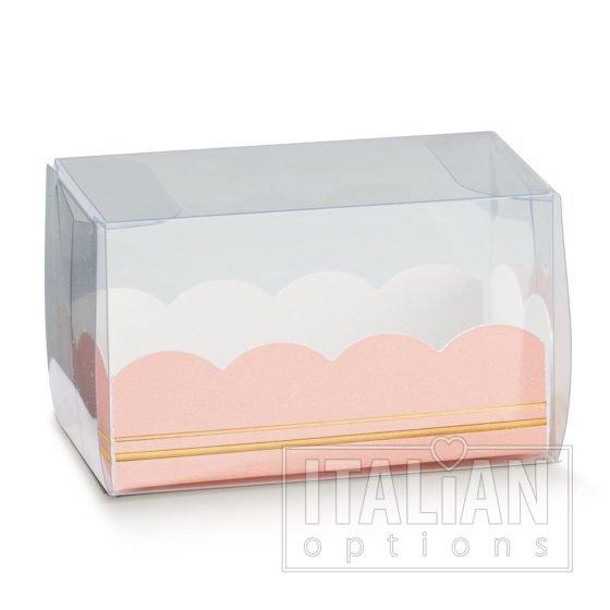 Macaroon Box / Elegance Pink Insert 80x50x50mm - 10 Pack