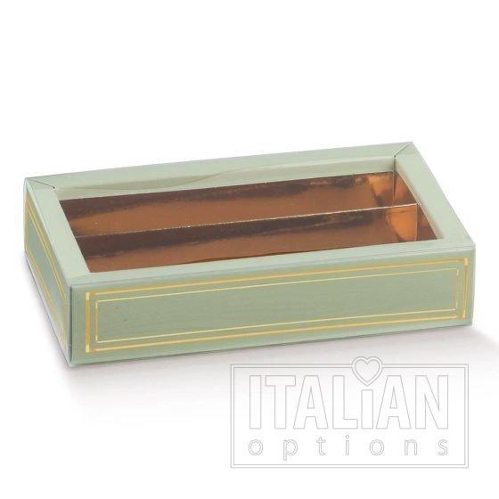 Elegance Green Choc Box/Sleeve/Insert 145x75x35mm