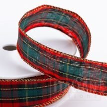 Wired Edge Tartan Ribbon