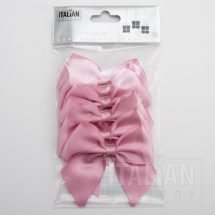 Antique Pink - 10cm Satin Ribbon Bow - (Self Adhesive) - 6 Pack