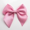 Antique Pink - 10cm Satin Ribbon Bow - (Self Adhesive) - 6 Pack
