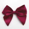 Burgundy - 10cm Satin Ribbon Bow - (Self Adhesive) - 6 Pack