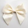 Ivory - 10cm Satin Ribbon Bow - (Self Adhesive) - 6 Pack